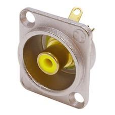 Neutrik NF2D4 RCA chassisdeel geel