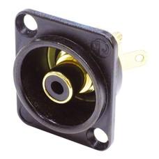 Neutrik NF2DB0 RCA chassisdeel zwart