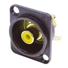 Neutrik NF2DB4 RCA chassisdeel geel