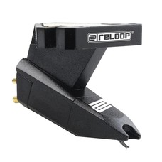 Reloop OM Black cartridge met headshell mounting