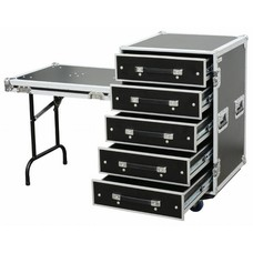 Power Dynamics PD-FA6 5 Laden flightcase met tafel