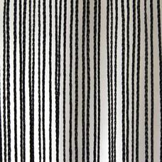 Showtec Pipe and drape spaghetti koordgordijn 300x300cm zwart