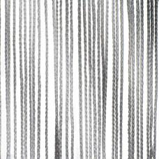 Showtec Pipe and drape spaghetti koordgordijn 400x300cm grijs