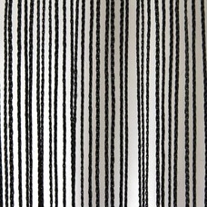 Showtec Pipe and drape spaghetti koordgordijn 400x300cm zwart