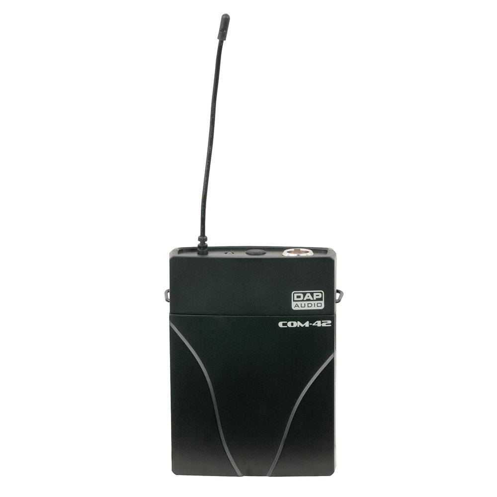Image of DAP COM-42 Draadloze beltpack zender met dasspeld microfoon