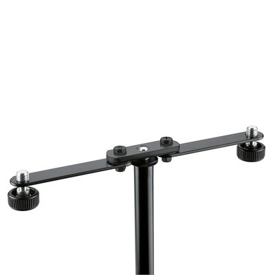 K&M 23510 Flexibele T-bar voor 2 microfoons