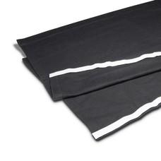 Adam Hall zwart podiumrok met klittenband 40cm x 2m
