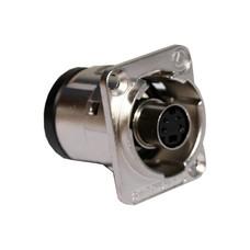 Switchcraft SVHS doorvoer chassisdeel zilver