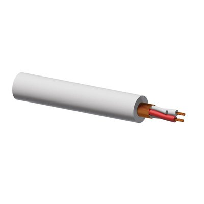 Procab MC305W/1 microfoonkabel wit 100m