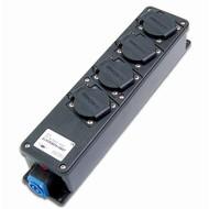 Keraf Stagebox15DL 4-weg verdeeldoos met powercon in- en uitgang