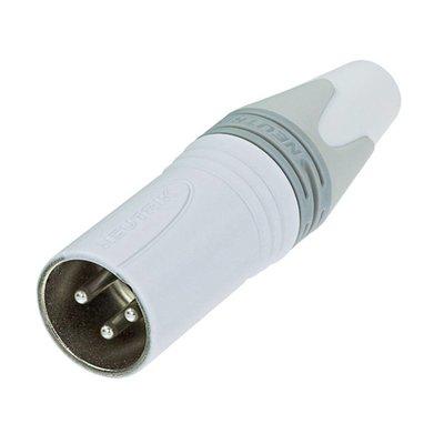 Neutrik NC3MXX-WT Male XLR kabeldeel 3p wit
