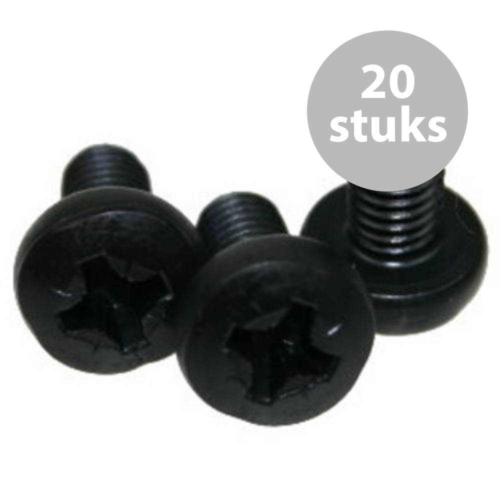 Image of Adam Hall M6x12mm bout zwart (20 stuks)