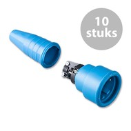 Keraf 522 Schuko 230V/240V contrastekker blauw (per 10)