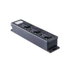 Keraf 16Z5PLED 3-weg slagvaste verdeeldoos met 3 fase aansluiting en LED-indicators