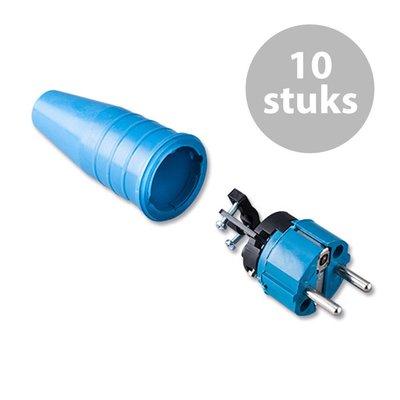 Keraf 521 Schuko 230V/240V stekker male blauw (per 10)