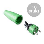 Keraf 521 Schuko 230V/240V stekker male groen (per 10)