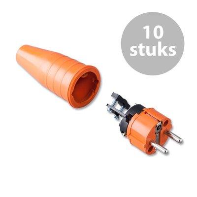 Keraf 521 Schuko 230V/240V stekker male oranje (per 10)
