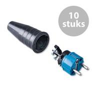 Keraf 521 Schuko 230V/240V stekker male blauw/zwart (per 10)
