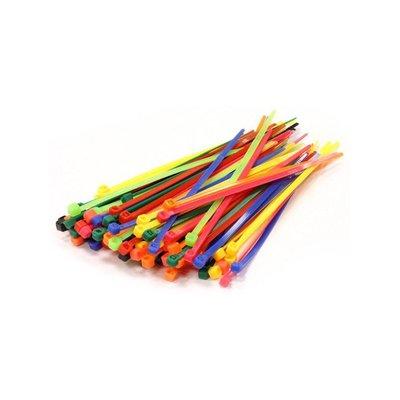 OEM 10025 tie-wrap kabelbinder 100mm oranje (100 stuks)