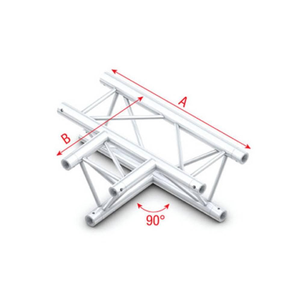 Image of Showtec FT30 Driehoek truss 017 3-weg T-stuk 90g