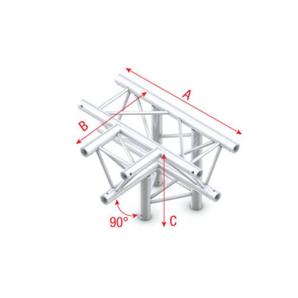 Image of Showtec FT30 Driehoek truss 020 4-weg T-stuk 90g