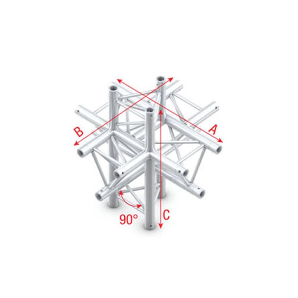 Image of Showtec FT30 Driehoek truss 022 6-weg T-stuk 90g