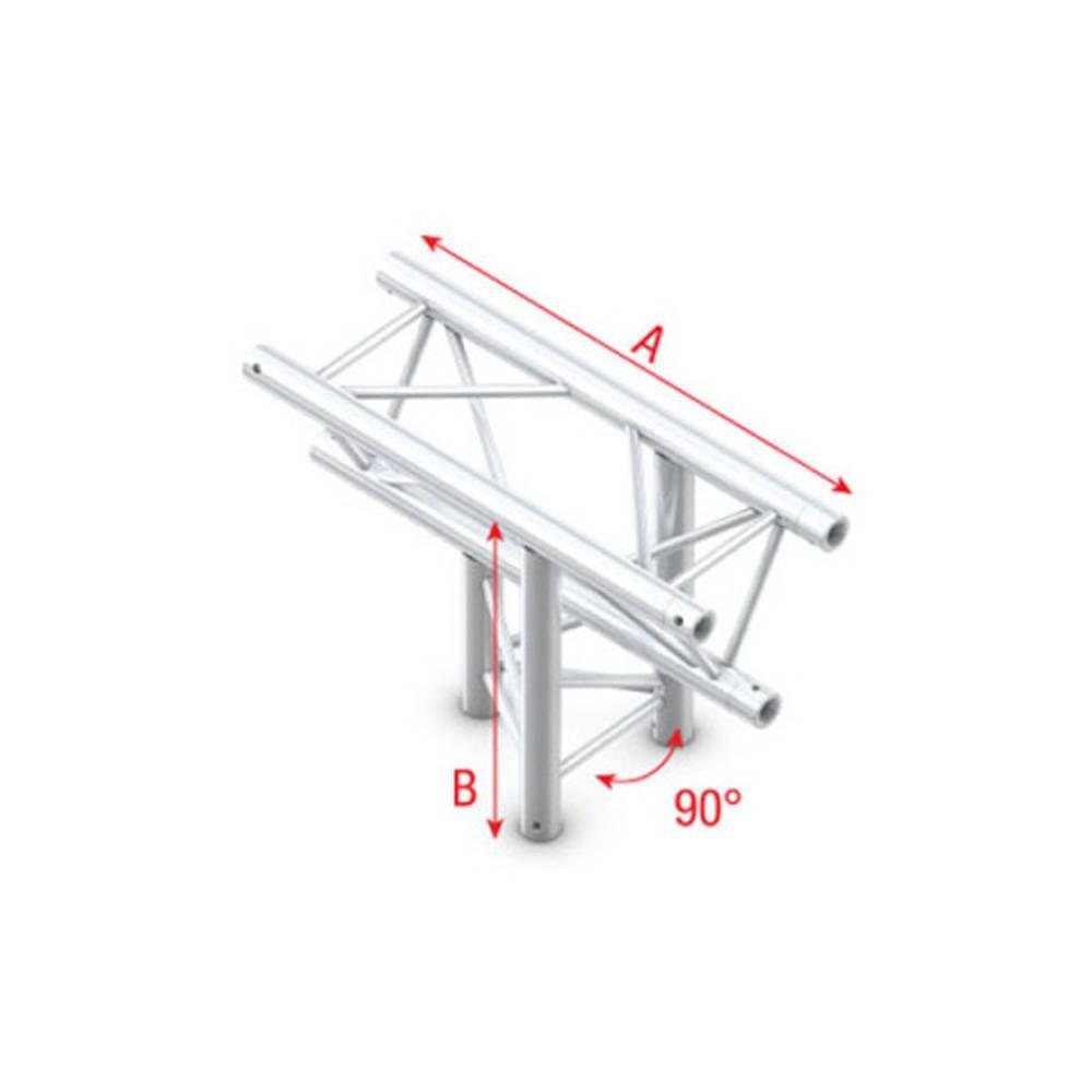 Image of Showtec FT30 Driehoek truss 023 3-weg T-stuk 90g