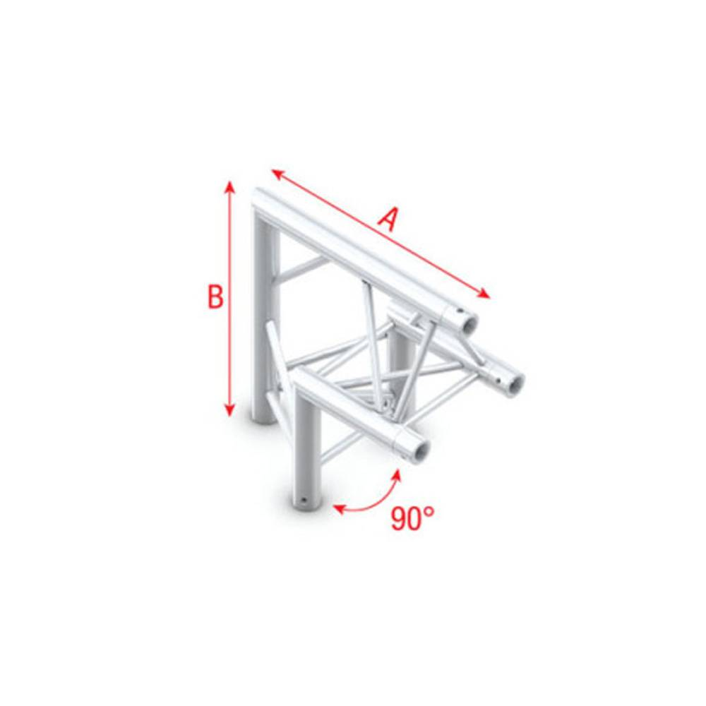 Image of Showtec FT30 Driehoek truss 006 Hoek 90g apex up