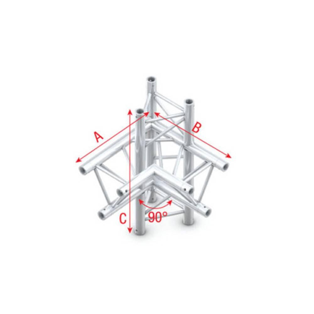 Image of Showtec FT30 Driehoek truss 015 4-weg hoek 90g links