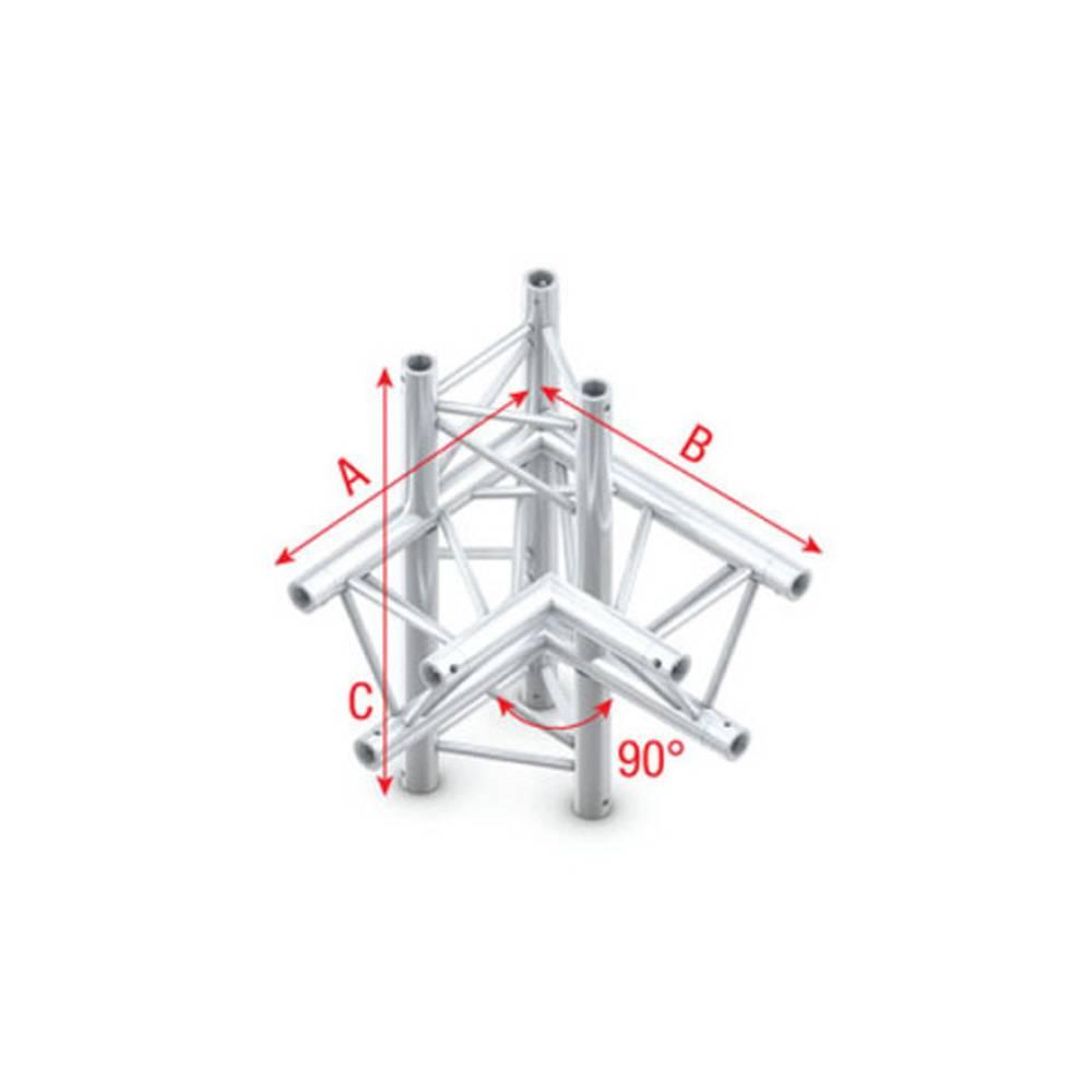 Image of Showtec FT30 Driehoek truss 014 4-weg hoek 90g rechts