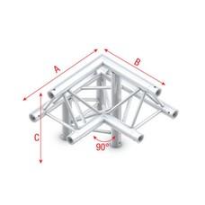 Showtec FT30 Driehoek truss 011 3-weg hoek 90g apex up