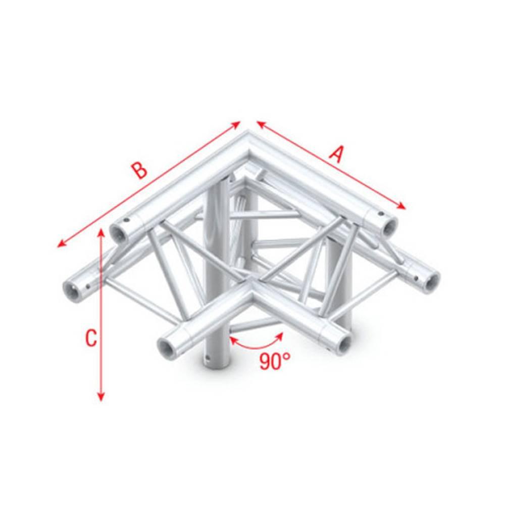 Image of Showtec FT30 Driehoek truss 010 3-weg hoek 90g apex up