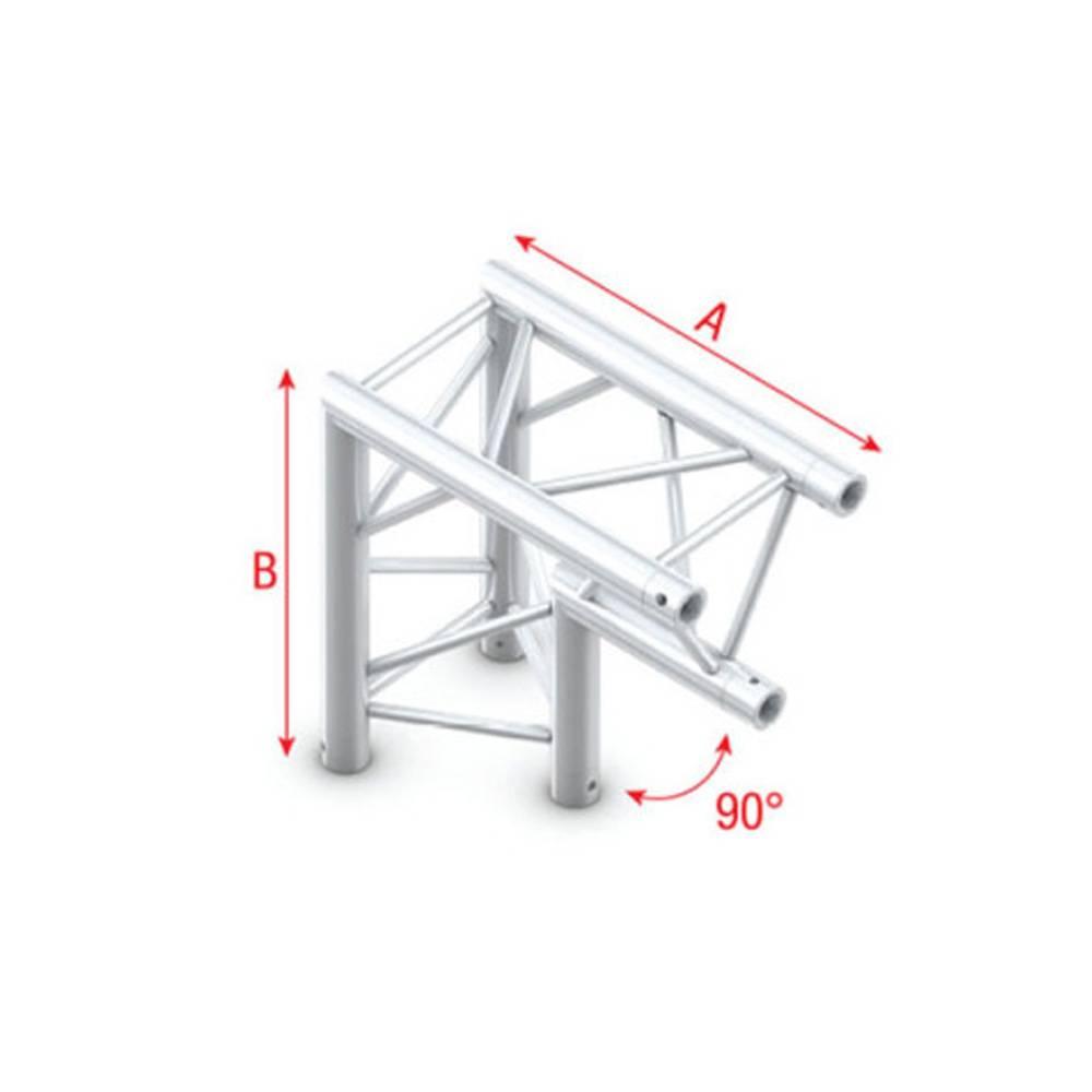 Image of Showtec FT30 Driehoek truss 007 Hoek 90g apex down