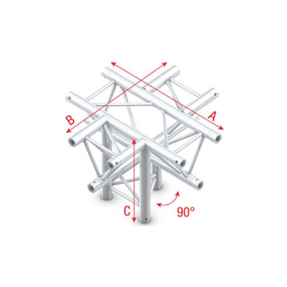 Image of Showtec FT30 Driehoek truss 024 5-weg kruis met down 90g apex down