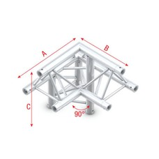 Showtec PT30 Driehoek truss 011 3-weg hoek 90g apex up