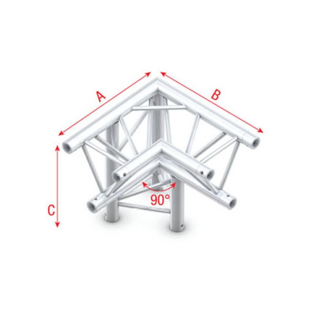Image of Showtec GT30 Driehoek truss 013 3-weg hoek 90g apex down