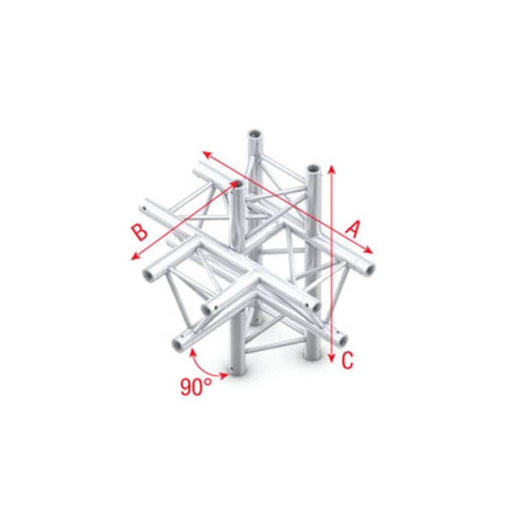 Image of Showtec GT30 Driehoek truss 021 5-weg T-stuk 90g