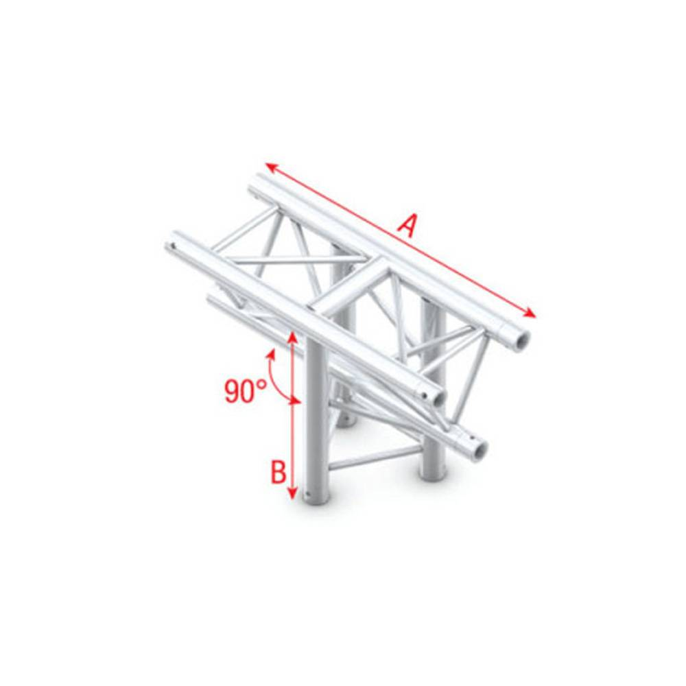 Image of Showtec DT22 Decotruss 018 3-weg stuk 90g apex down