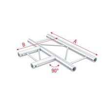 Showtec FS30 Ladder truss 3-weg horizontaal T-stuk
