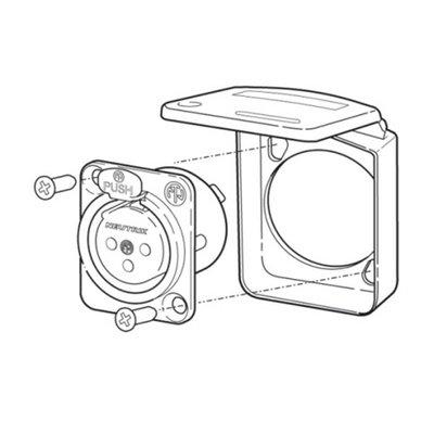 Neutrik SCDX-9 Afdekkapje wit