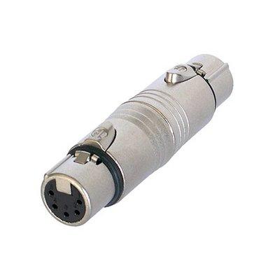 Neutrik NA5FF 5p DMX female naar 5p DMX female adapter