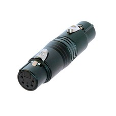 Neutrik NA5FF-B 5p DMX female naar 5p DMX female adapter zwart