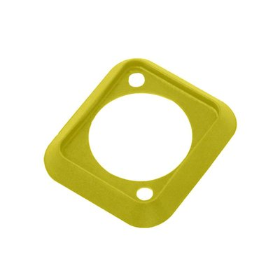 Neutrik SCDP-4 D-size kleurcode afwerkrand geel