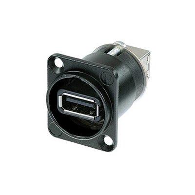 Neutrik NA USB-W B doorvoer chassisdeel zwart