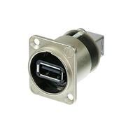 Neutrik NA USB-W doorvoer chassisdeel nikkel