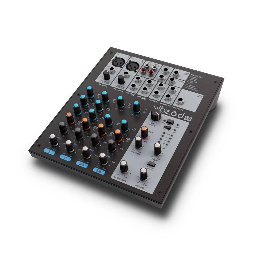 Image of LD Systems VIBZ 6D 6-kanaals PA-mixer met effecten