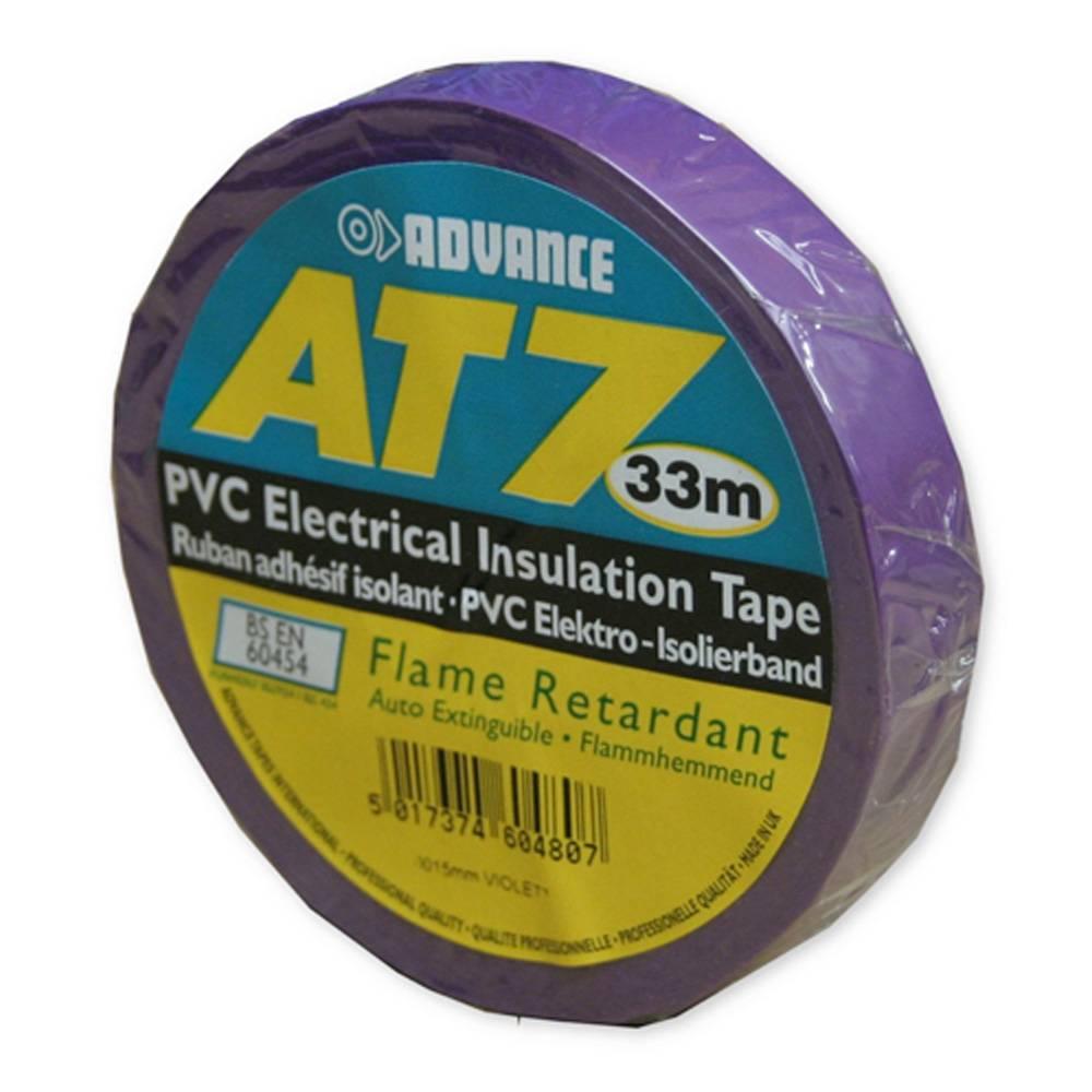 Image of Advance AT7 PVC tape 15mm 33m violet