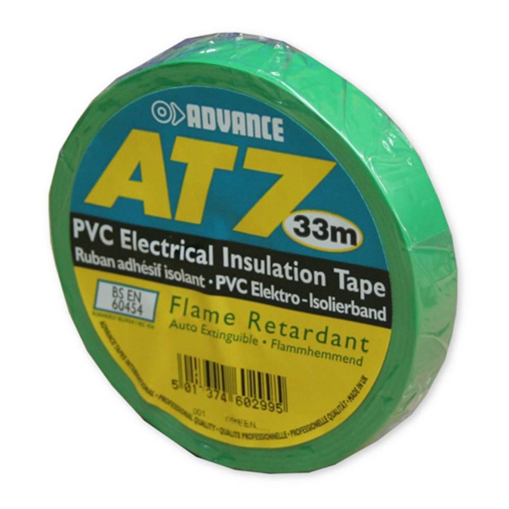 Image of Advance AT7 PVC tape 15mm 33m groen