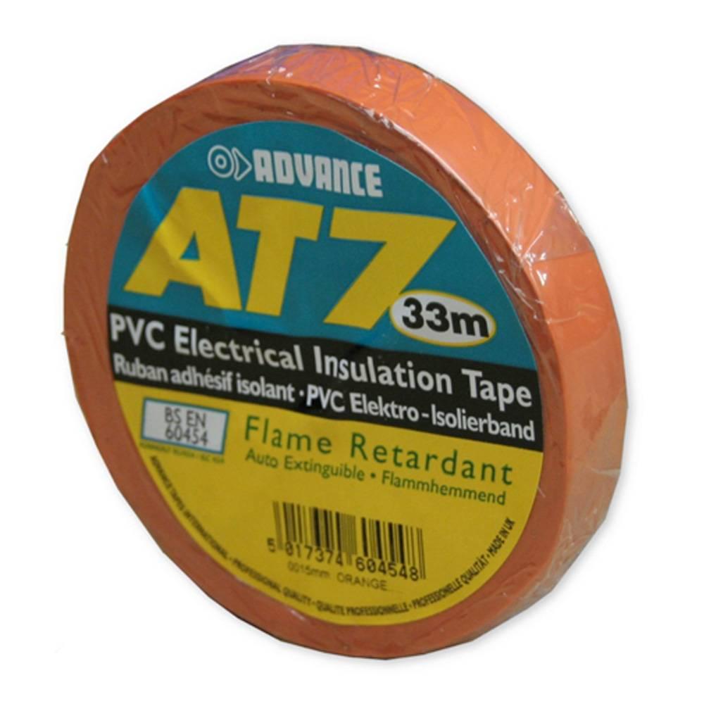 Image of Advance AT7 PVC tape 15mm 33m oranje