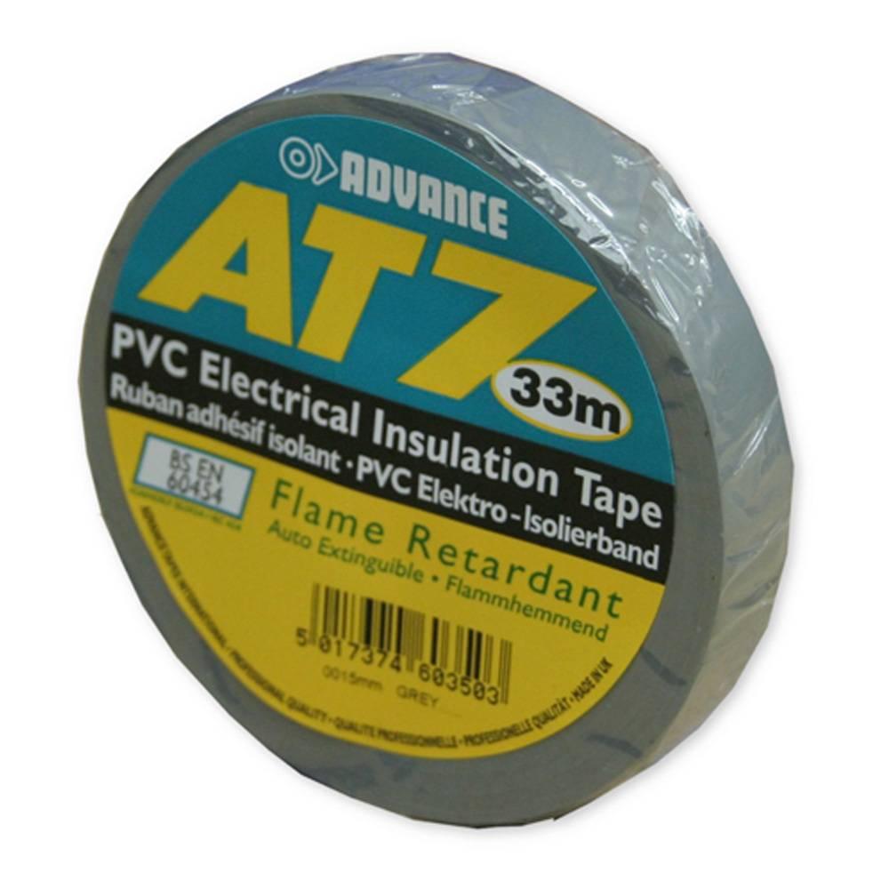 Image of Advance AT7 PVC tape 15mm 33m grijs